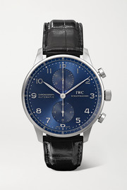 Portugieser Chronograph automatic 41mm stainless steel and alligator watch