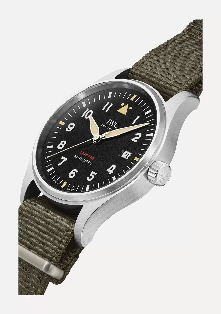 IWC SCHAFFHAUSEN Pilot's Automatic Spitfire 39mm stainless steel and webbing watch