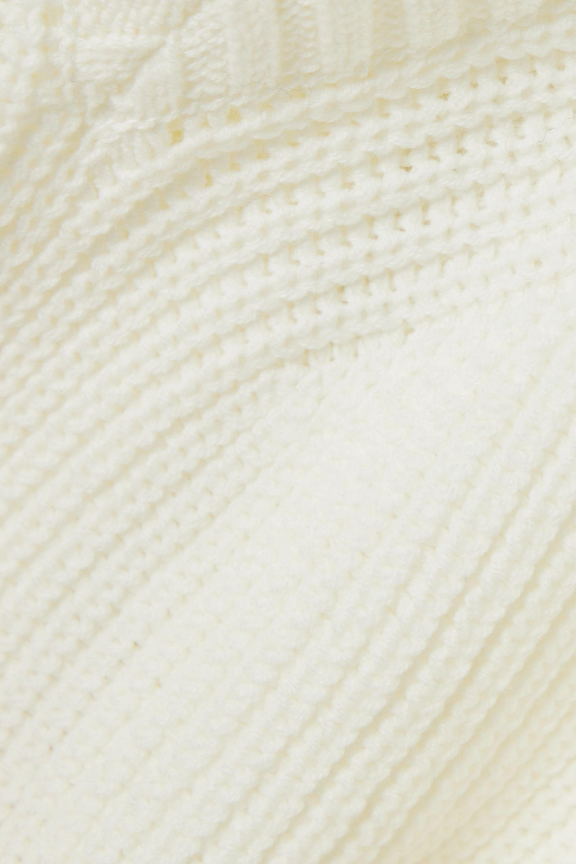 Sacai Rollkragenpullover aus einer Baumwollmischung mit Cut-out