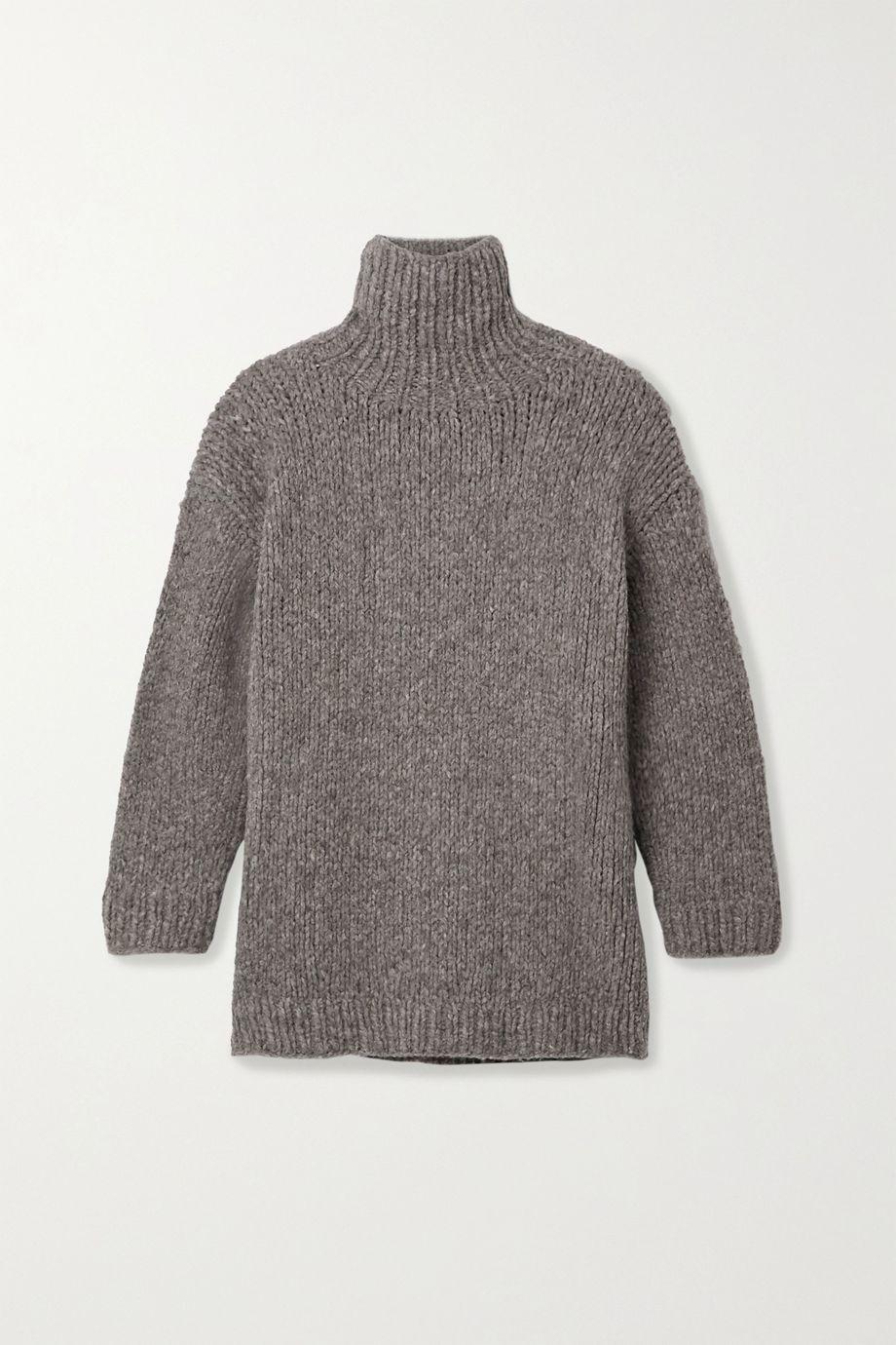 Lauren Manoogian Oversized mélange alpaca, merino wool and cotton-blend turtleneck sweater
