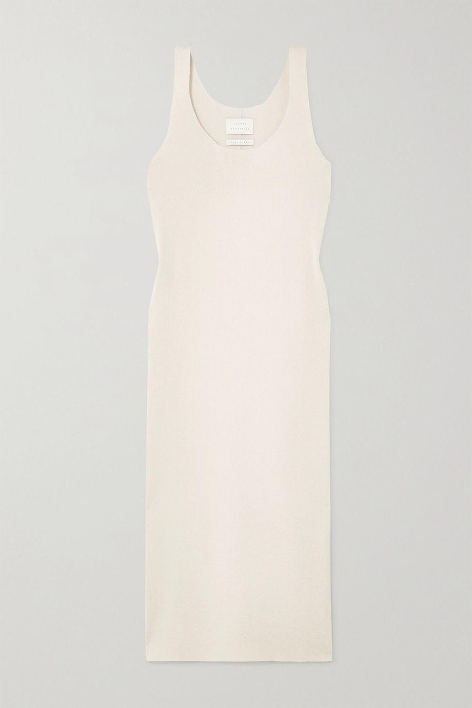 Lauren Manoogian Ribbed organic cotton and alpaca-blend midi dress