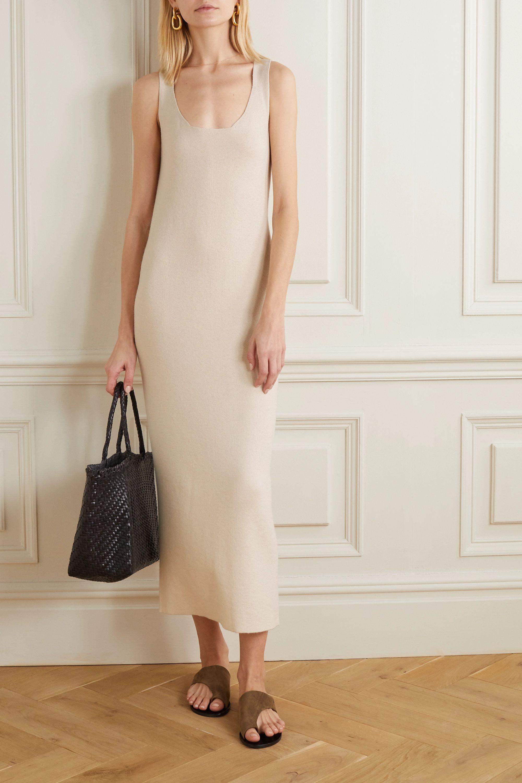 Lauren Manoogian Ribbed organic cotton and alpaca-blend midi dress