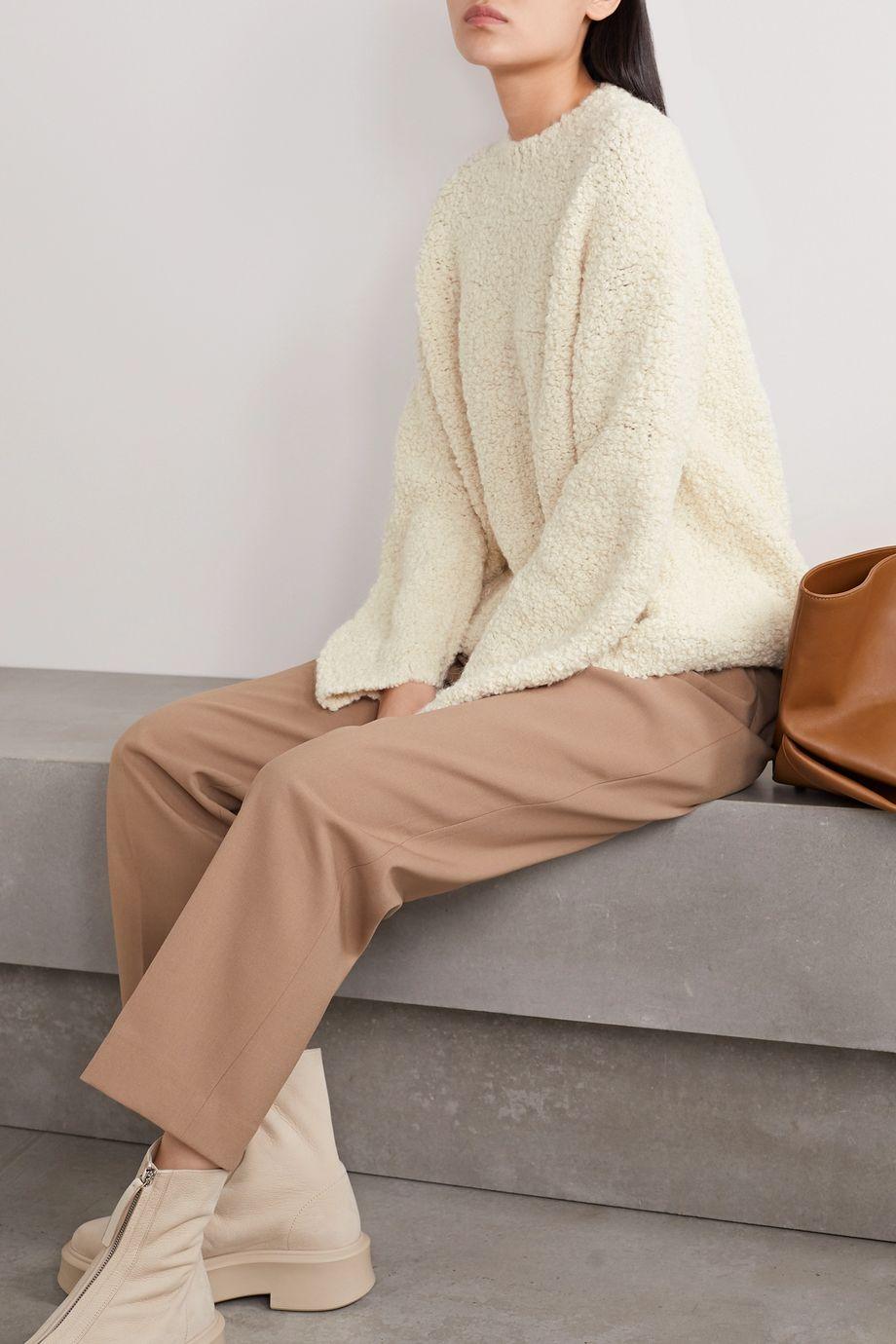 Lauren Manoogian Astrakhan alpaca and wool-blend bouclé sweater