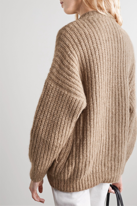 Lauren Manoogian Ribbed alpaca and cotton-blend cardigan