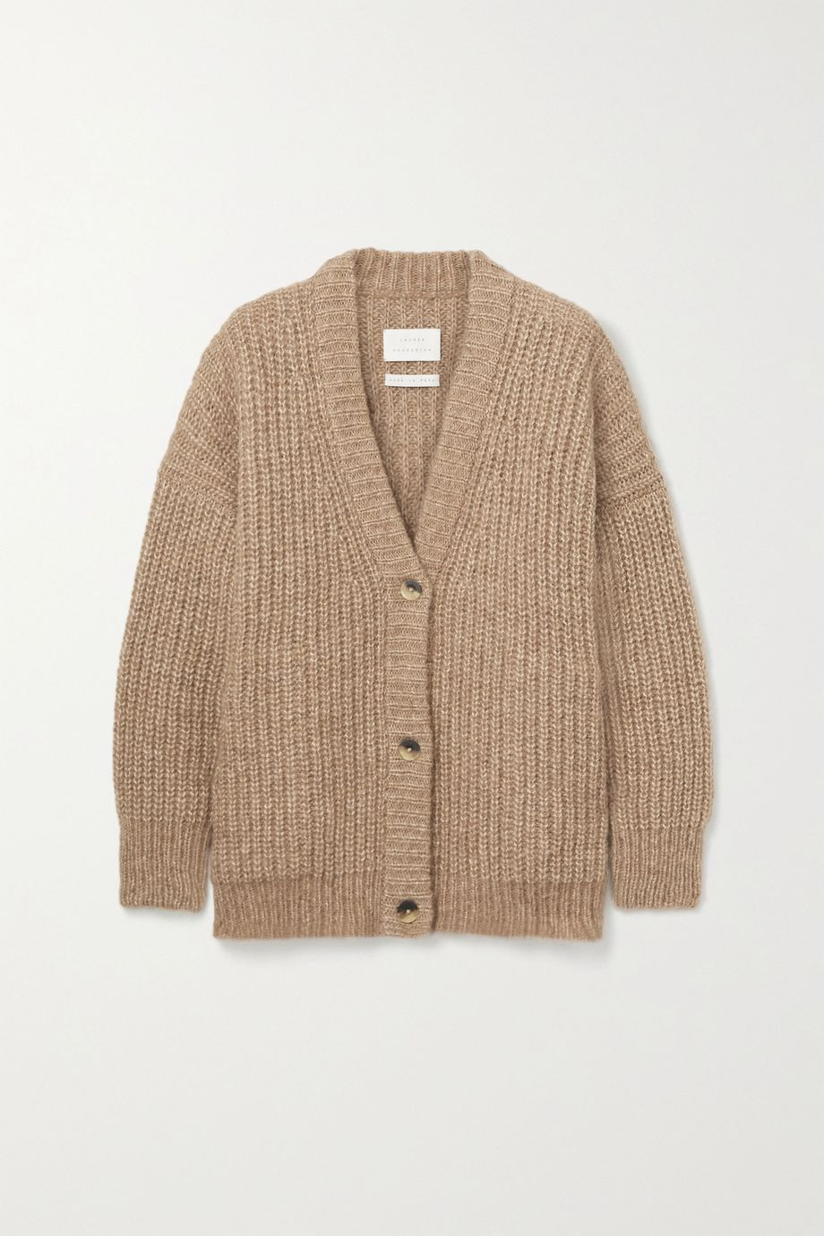 Lauren Manoogian Ribbed alpaca and cotton-blend cardigan