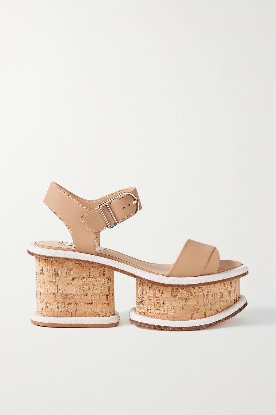 Gabriela Hearst Sandales plates-formes en cuir Harrigan