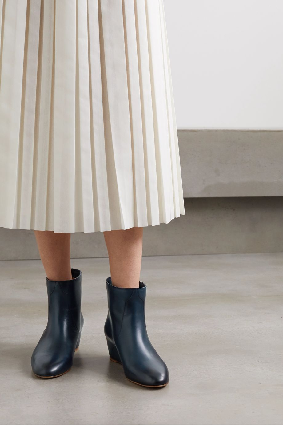 Gabriela Hearst Gorgkin leather wedge ankle boots