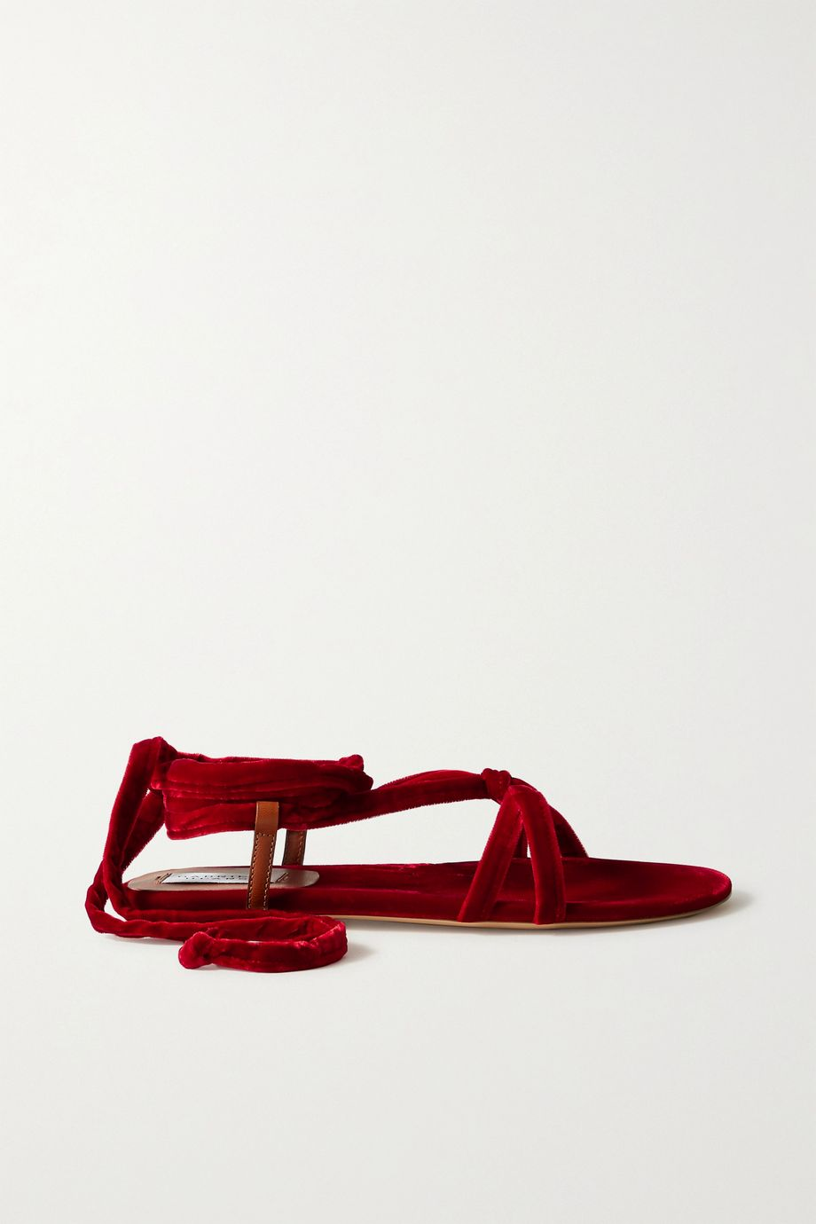 Gabriela Hearst Reeves velvet and leather sandals