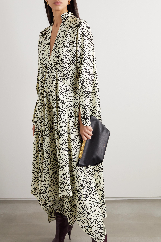 Petar Petrov Alex asymmetric printed silk-satin dress