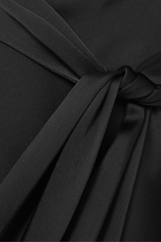 Petar Petrov Adia asymmetric draped satin midi dress