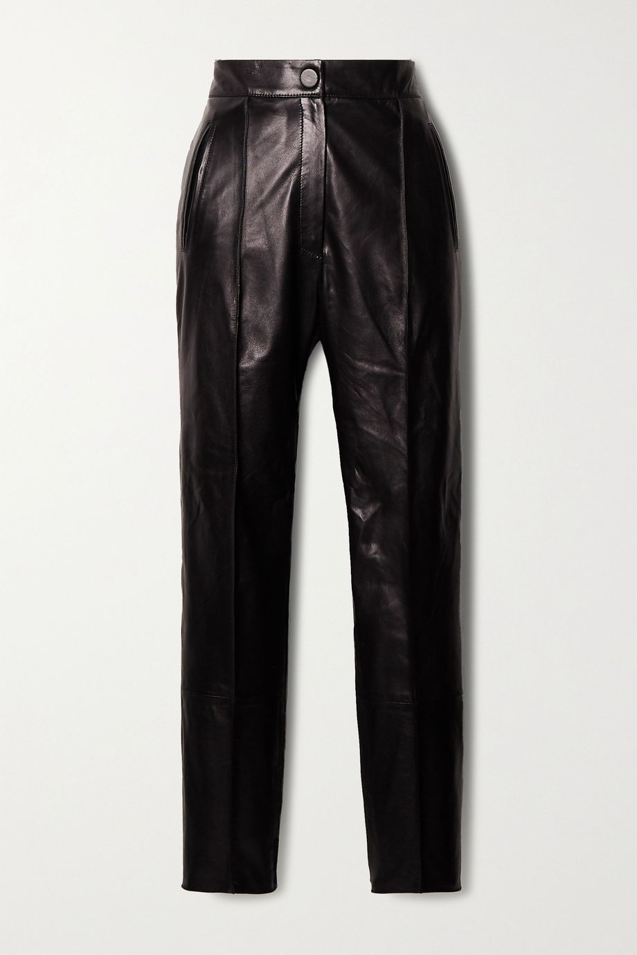 Petar Petrov Hogan leather straight-leg pants