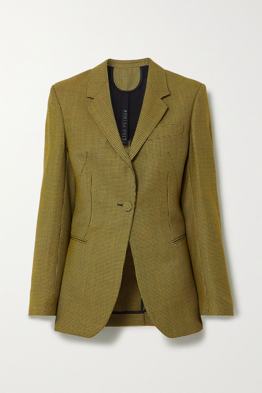 Petar Petrov Jaffa houndstooth wool and mohair-blend blazer