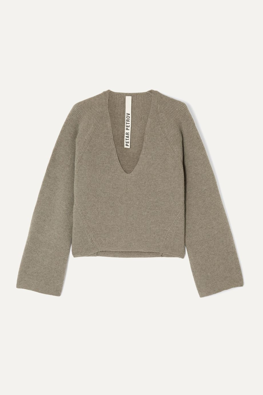 Petar Petrov Kenne ribbed cashmere sweater