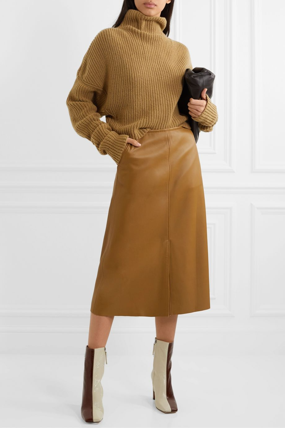 Petar Petrov Kate ribbed cashmere turtleneck sweater