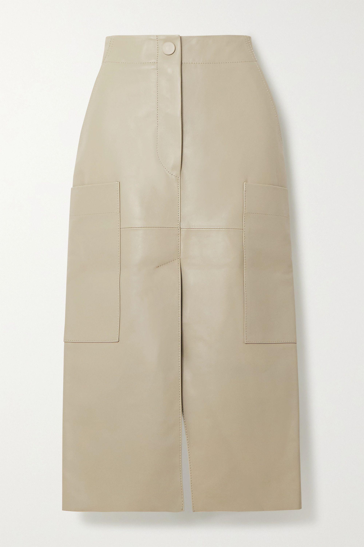 Petar Petrov Ria paneled leather midi skirt