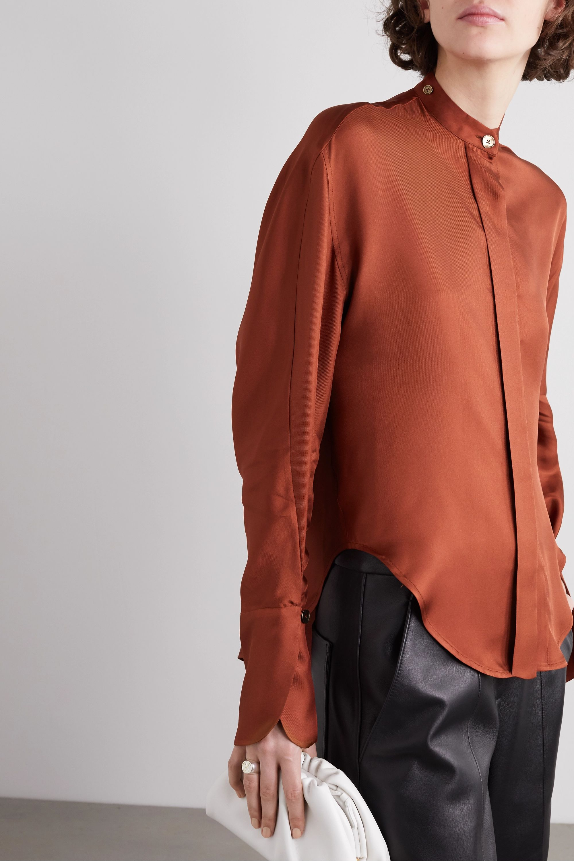 Petar Petrov Connor tie-neck silk-twill blouse