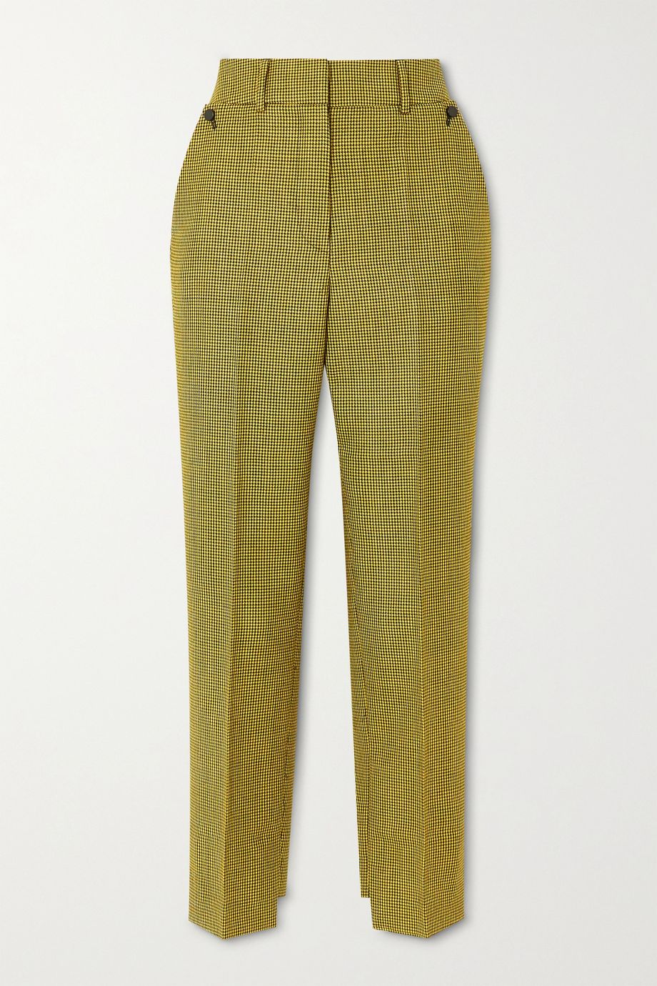 Petar Petrov Hernan houndstooth wool and mohair-blend tapered pants