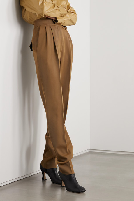 Herve pleated wool-twill tapered pants