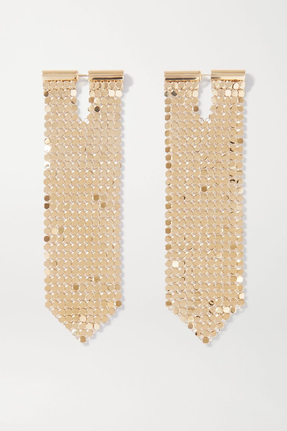 Paco Rabanne Gold-tone chainmail earrings