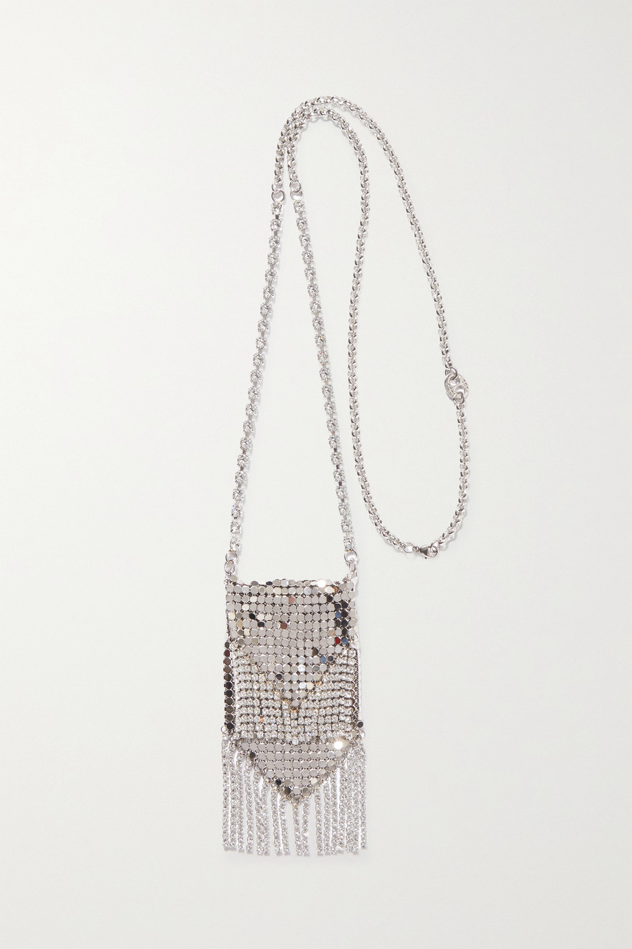 Paco Rabanne Silberfarbene Kette mit Kristallen