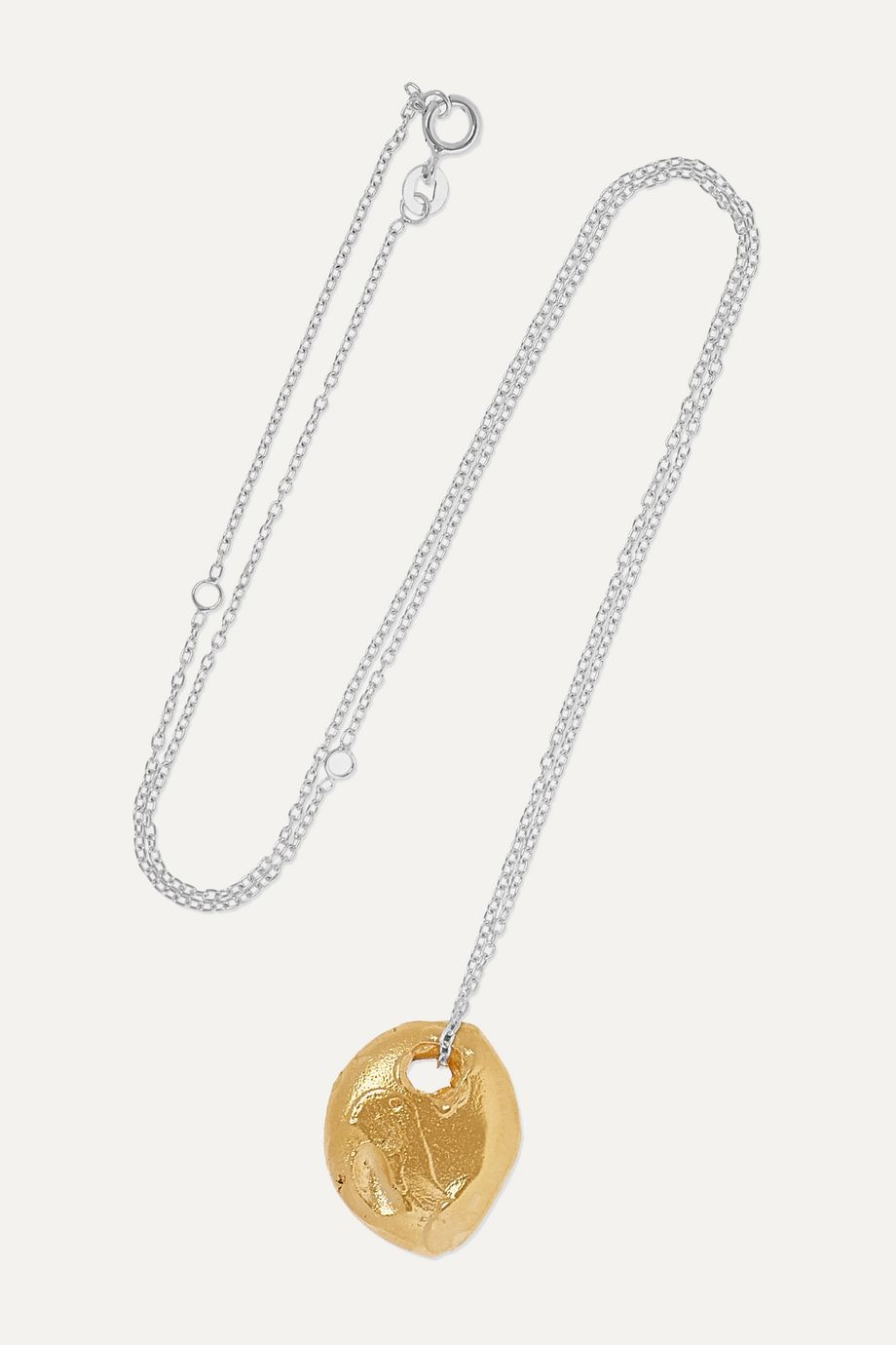 Alighieri The Horizon In Sight gold-plated and silver necklace