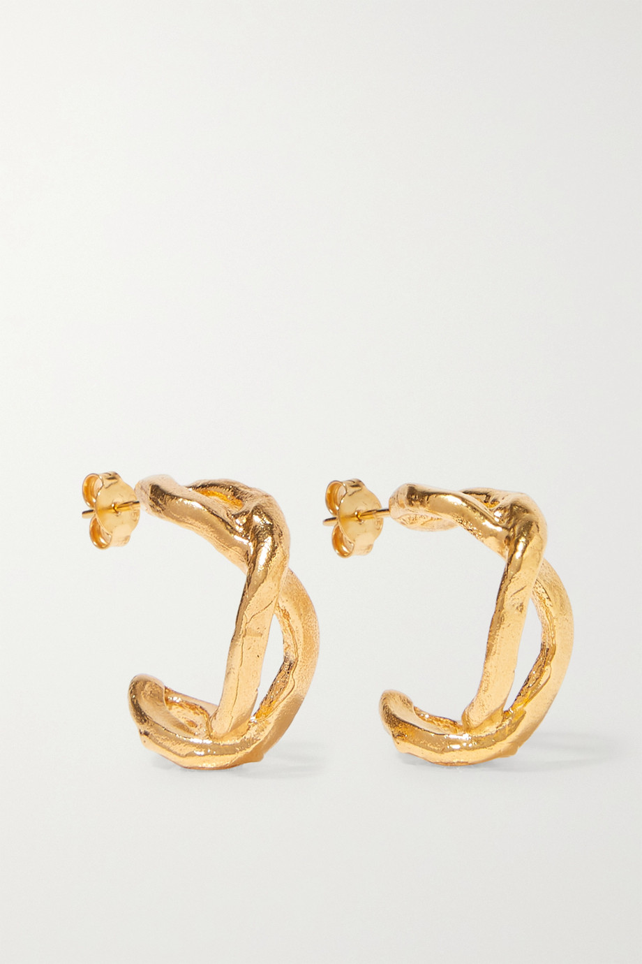 Alighieri The Orbit Of The Writer gold-plated hoop earrings