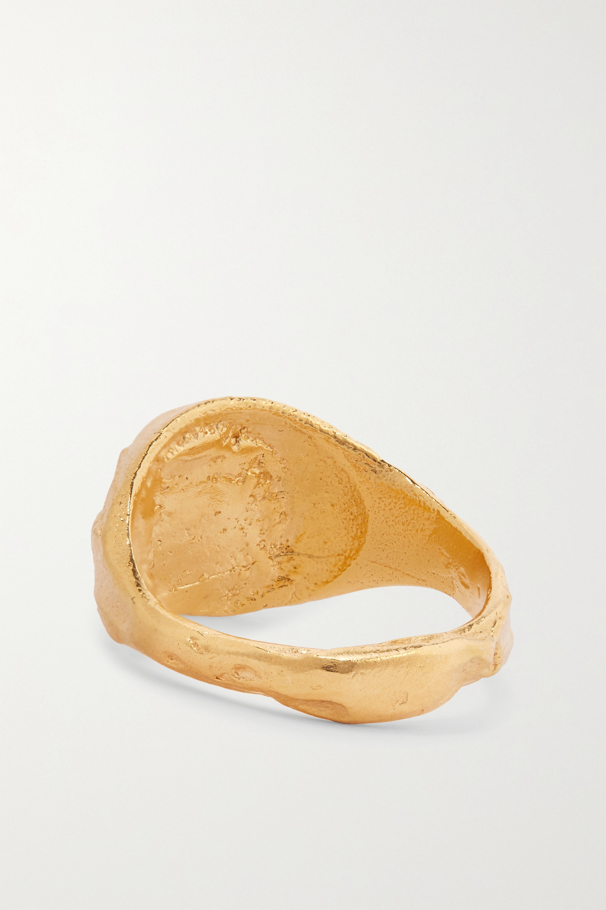 Alighieri The Infernal Stone gold-plated ring
