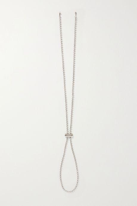 Silver Silver-tone crystal hat chain | Jacquemus GOGBgF