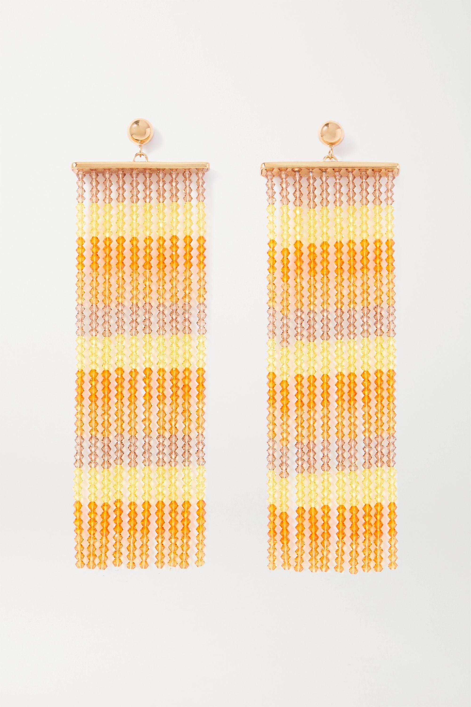 Jacquemus Les Rideaux beaded gold-tone earrings
