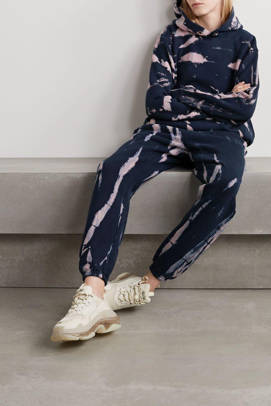 Les Tien Classic tie-dyed cotton-jersey track pants