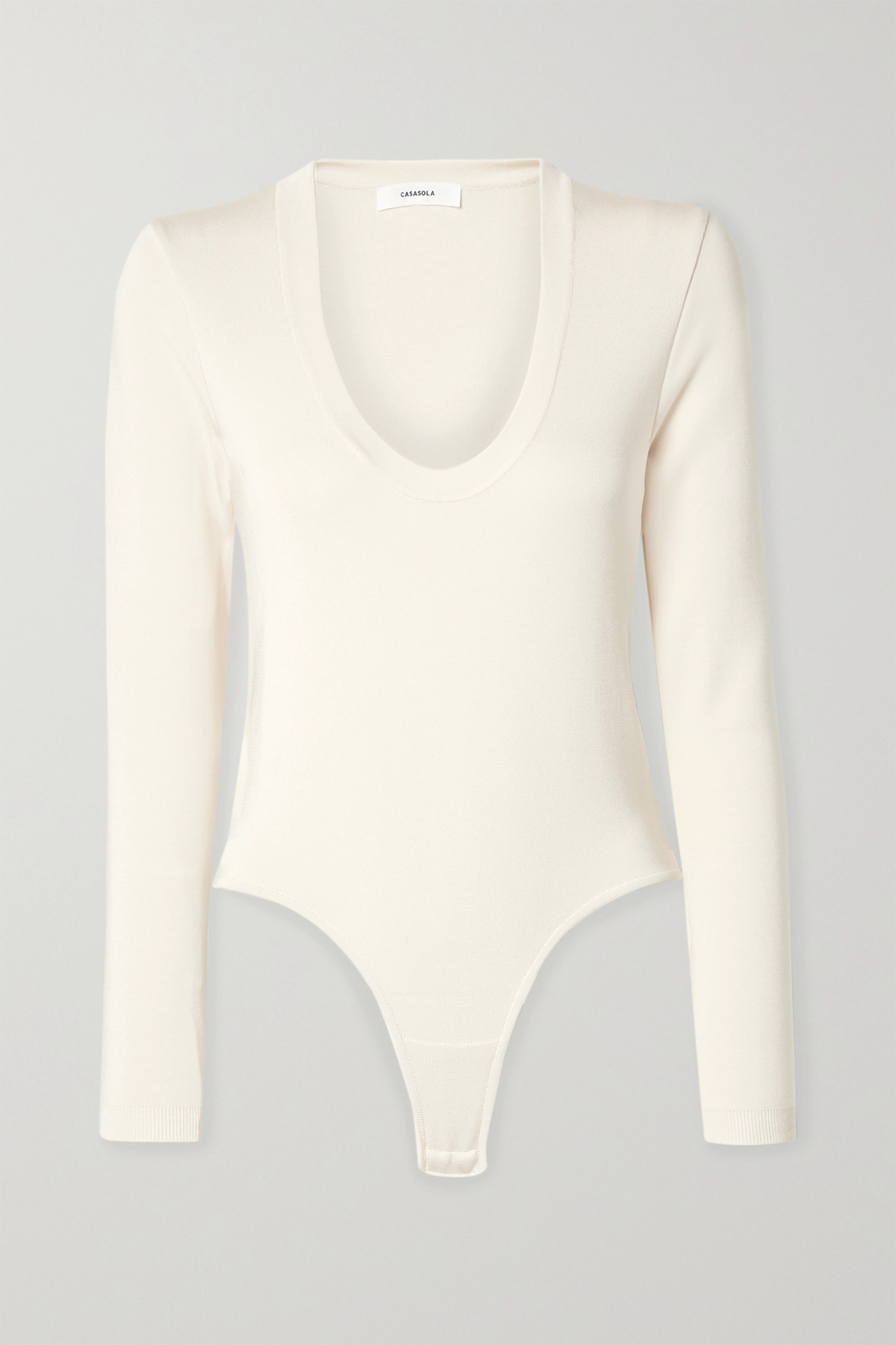 CASASOLA Stretch-jersey thong bodysuit