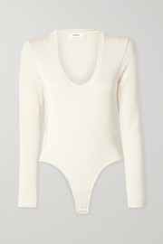 Stretch-jersey thong bodysuit