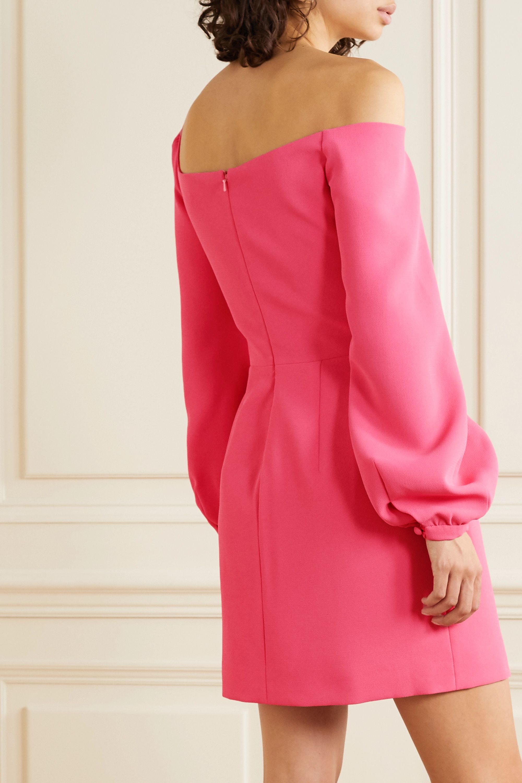 Racil Debbie one-shoulder crepe mini dress