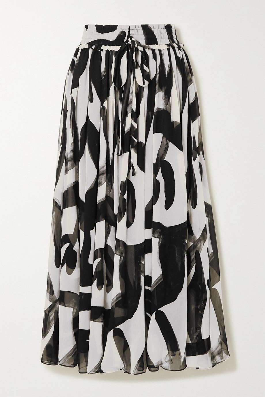 Lee Mathews Estelle printed silk-crepon maxi skirt