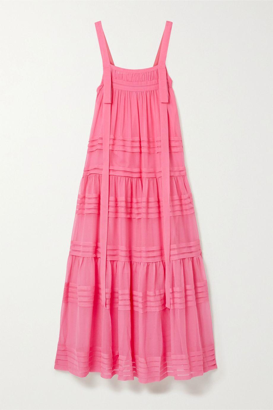 Lee Mathews Tiered silk-chiffon maxi dress
