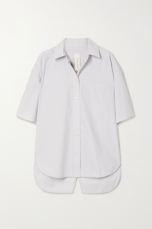 Lee Mathews + NET SUSTAIN organic cotton-poplin shirt