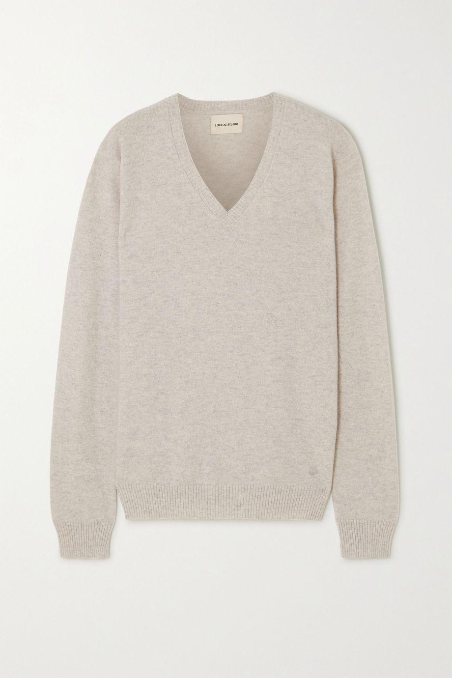 LOULOU STUDIO Serafini oversized mélange cashmere sweater
