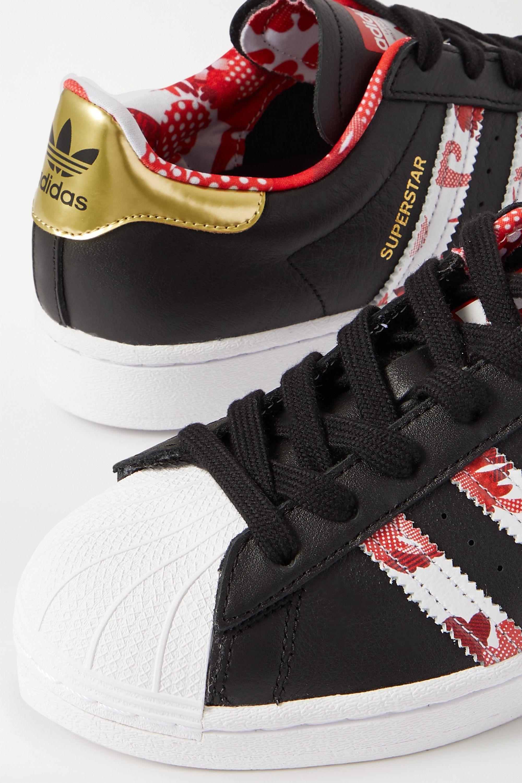 adidas Originals Superstar 印花纹理皮革运动鞋