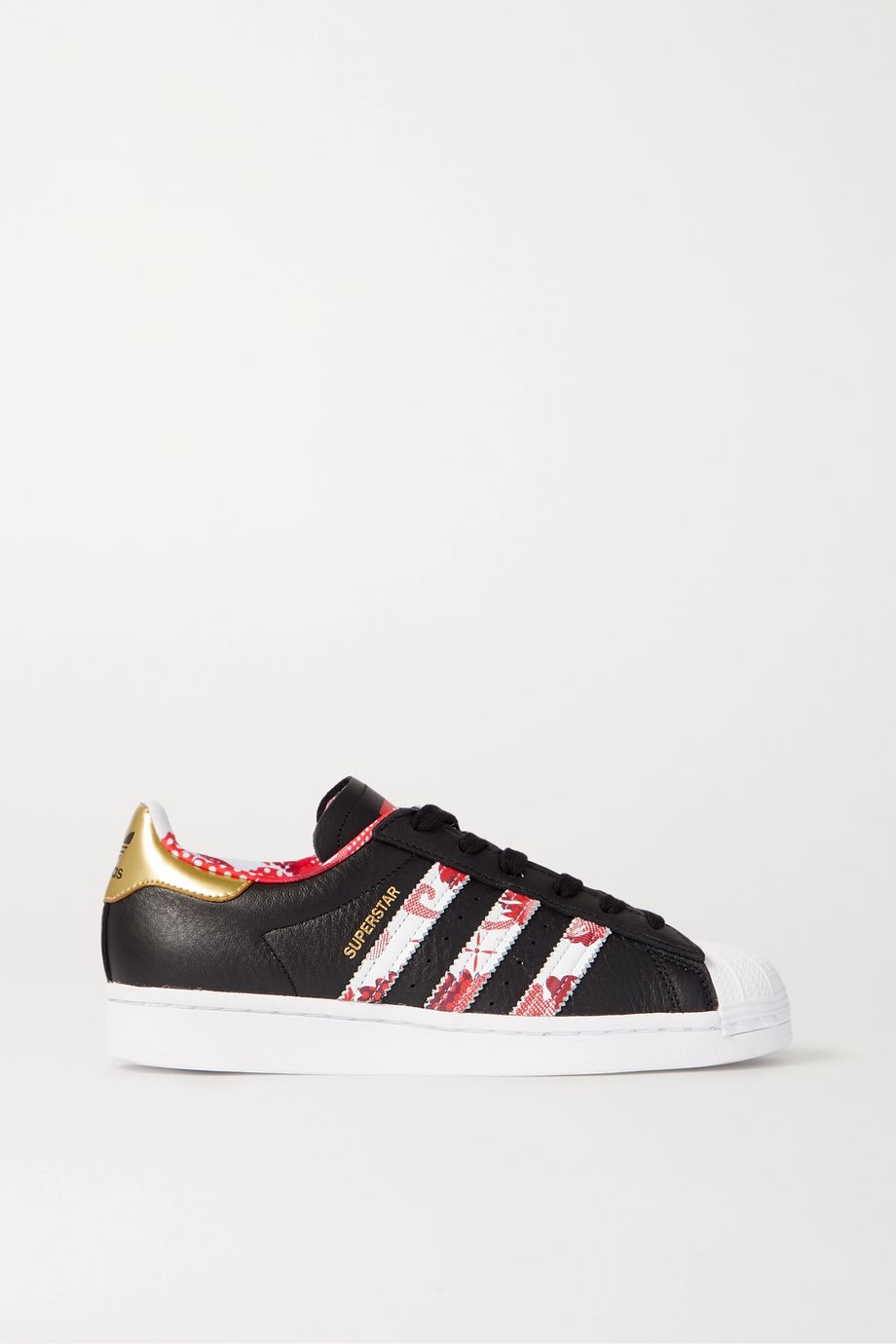 adidas Originals Superstar printed textured-leather sneakers
