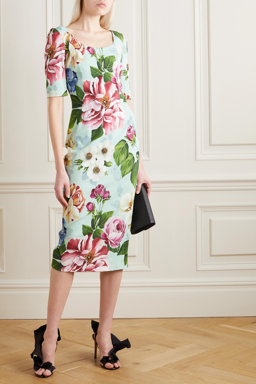 Dolce & Gabbana Robe en cady à imprimé fleuri