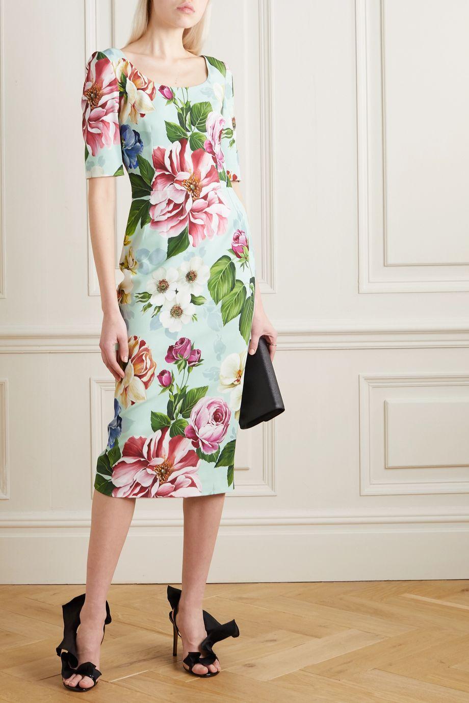 Dolce & Gabbana Floral-print cady dress