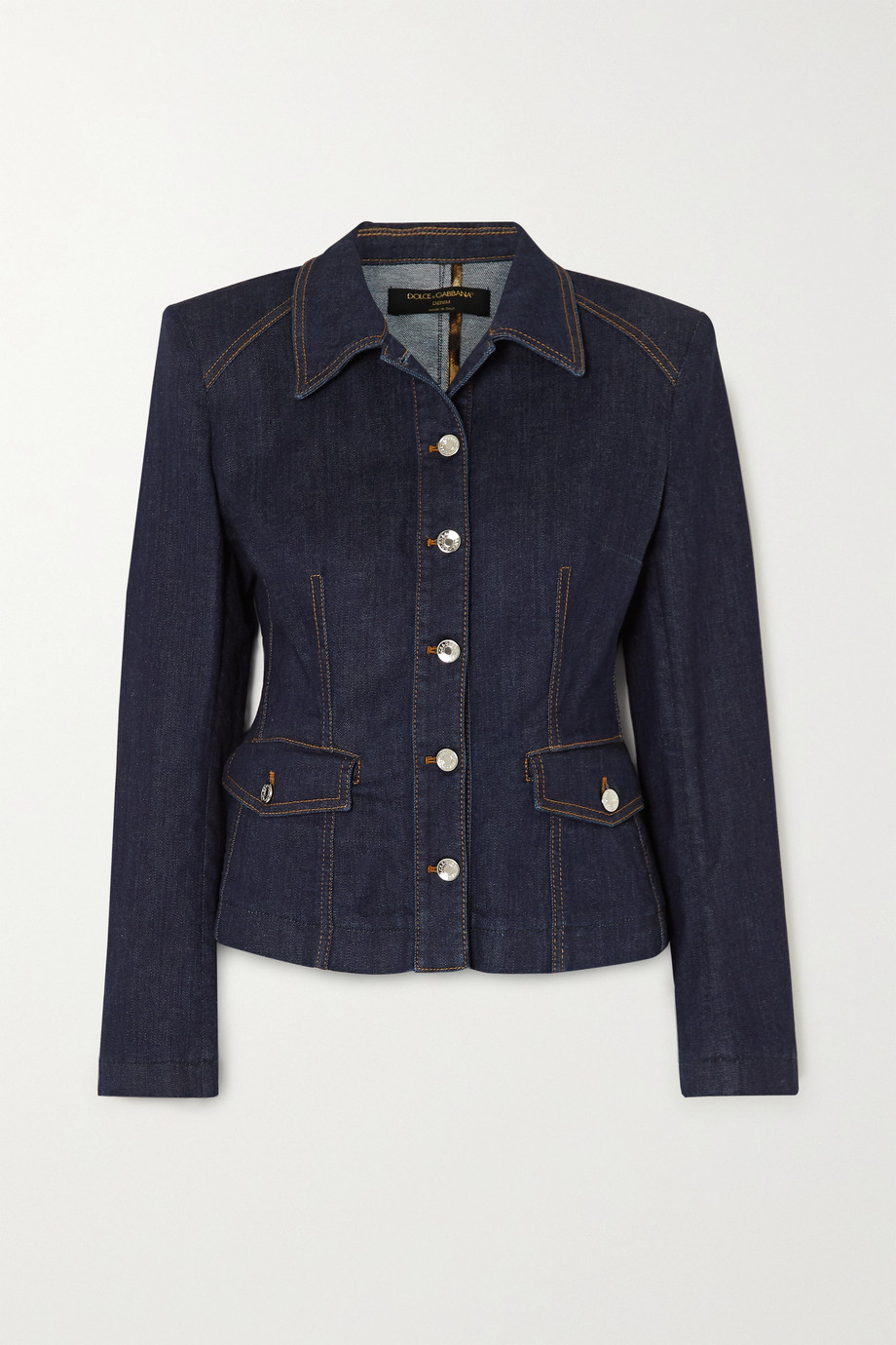 Dolce & Gabbana Denim peplum jacket