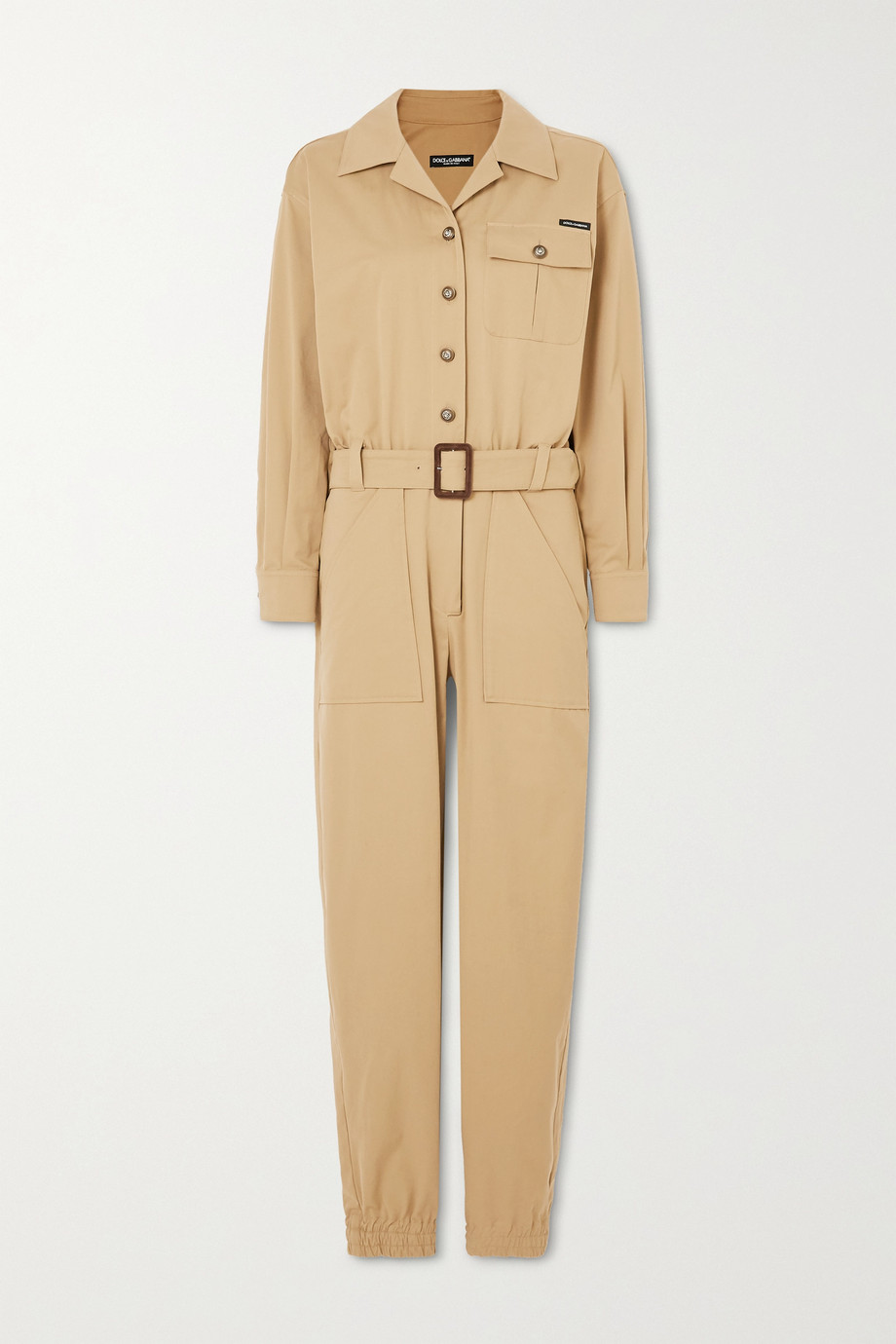Dolce & Gabbana Belted cotton-blend gabardine jumpsuit