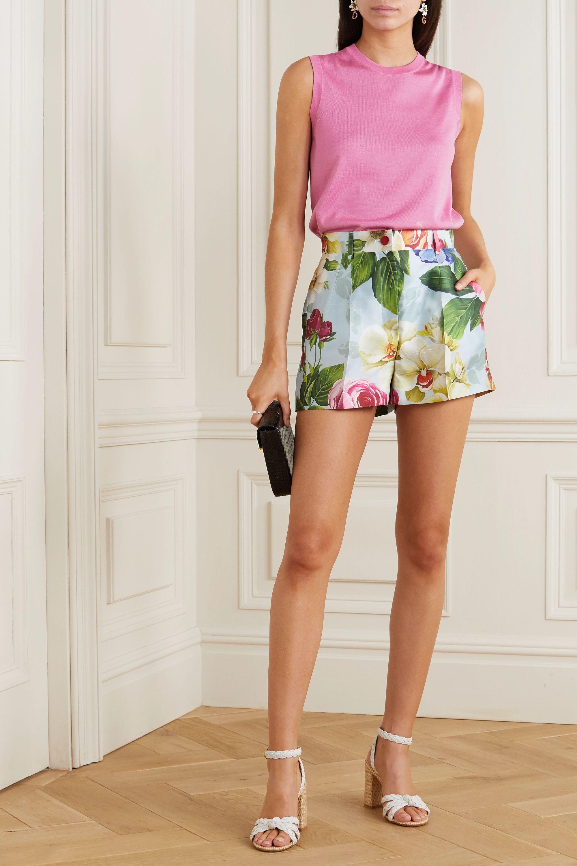 Dolce & Gabbana Pull sans manches en soie