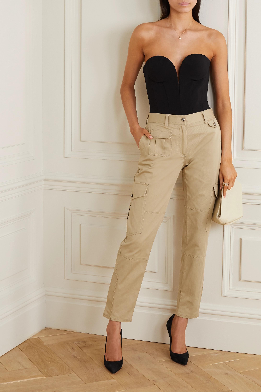 Dolce & Gabbana Cotton-blend twill slim-leg pants