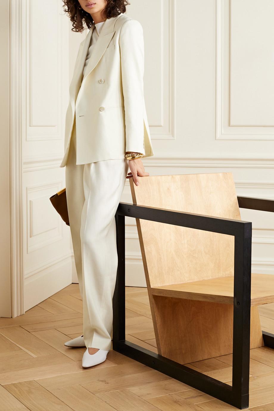 CASASOLA + NET SUSTAIN Carioca organic wool, silk and linen-blend blazer