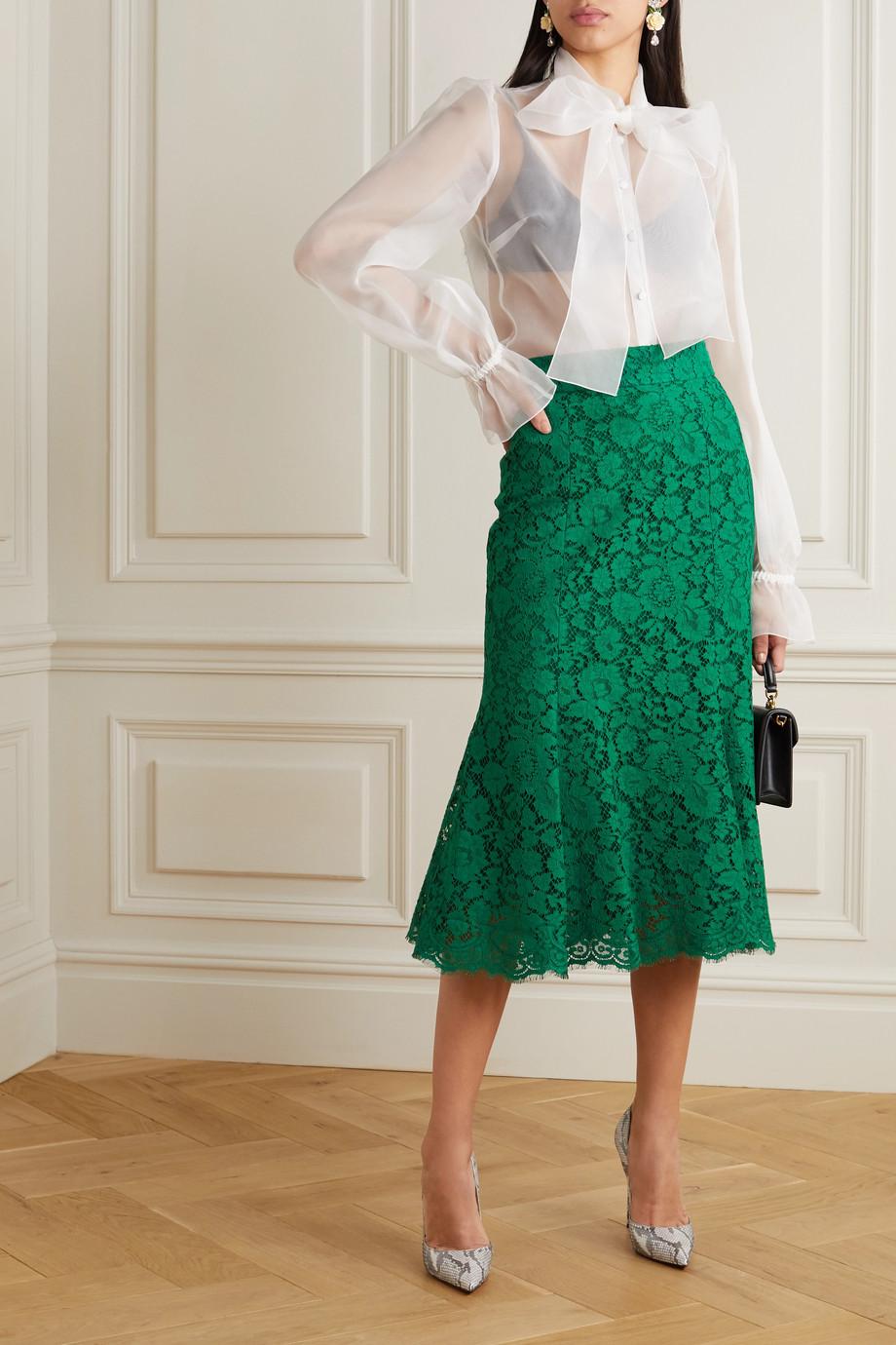 Dolce & Gabbana Corded lace midi skirt