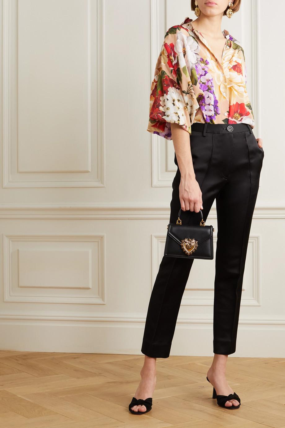 Dolce & Gabbana Floral-print silk blouse