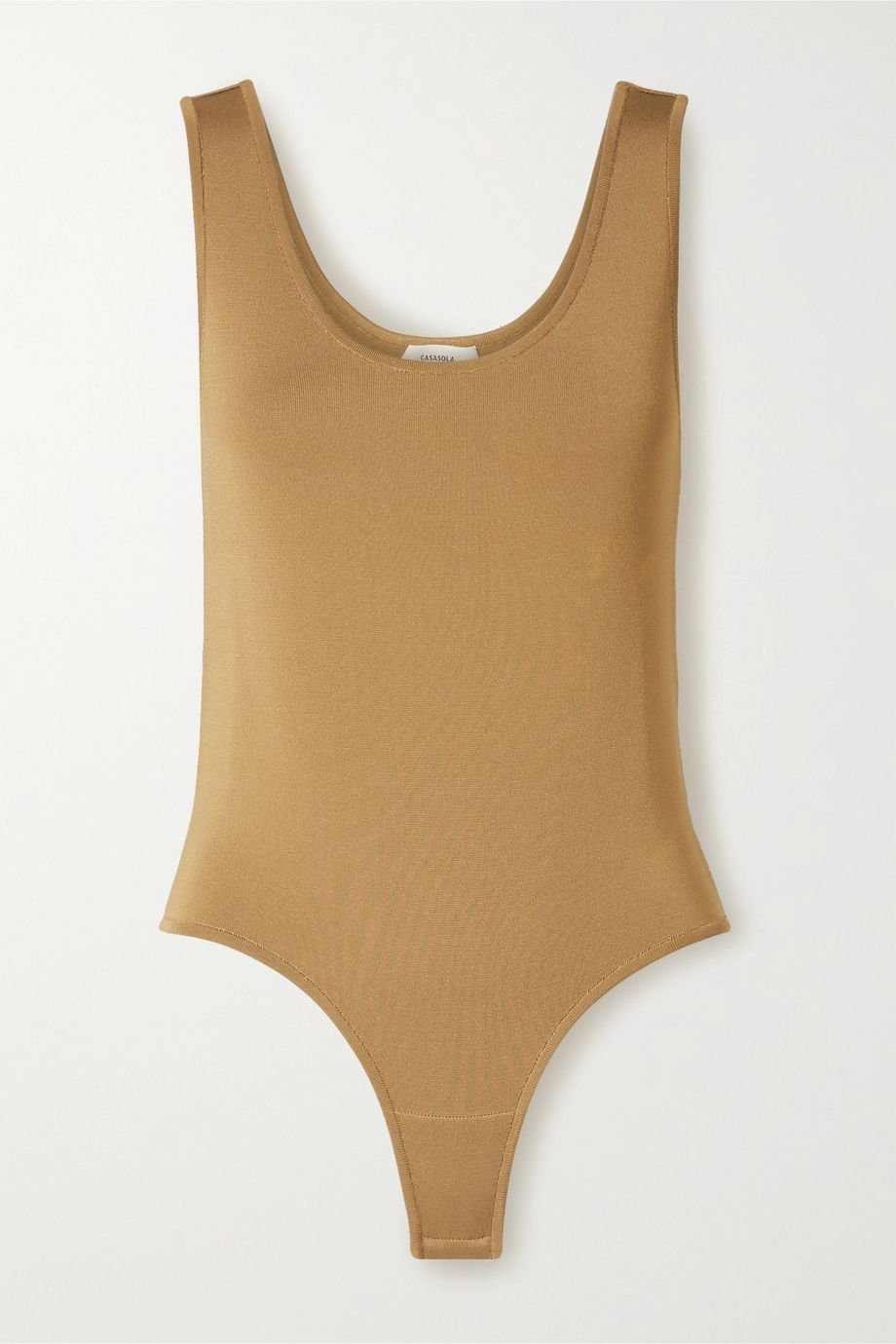 CASASOLA Stretch-knit thong bodysuit