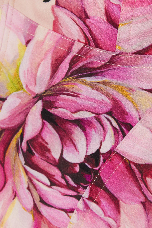 Dolce & Gabbana Haut façon corset en soie mélangée à imprimé fleuri